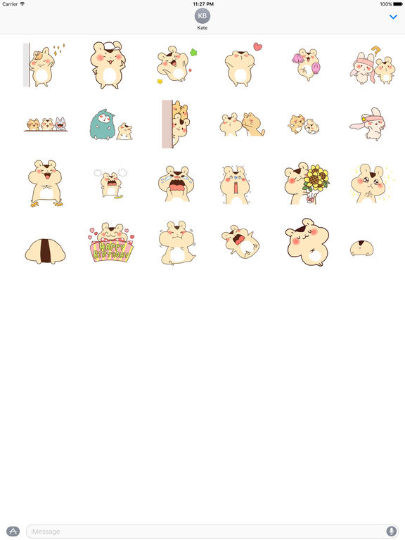 Adorable Hamster And Friends Animated Sticker Pack screenshot 3