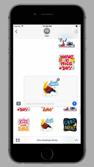 Daily Greetings Stickers screenshot 2
