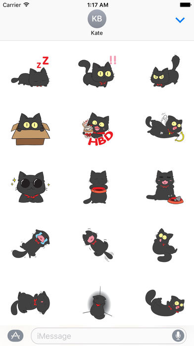 Black Munchkin Kitten The Shortest Leg Cat Sticker screenshot 2