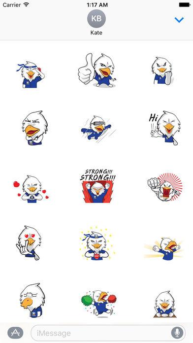 Air Force Bald Eagle Sticker screenshot 1