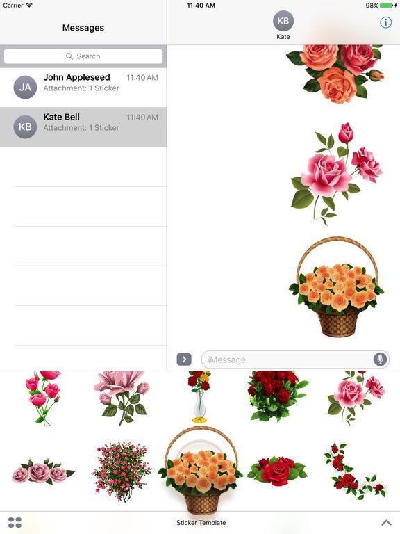 Flower Bouquets Bundle Stickers screenshot 10