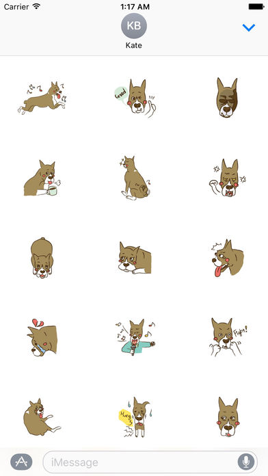 Lovely Boxer Dog Emoji Sticker screenshot 2
