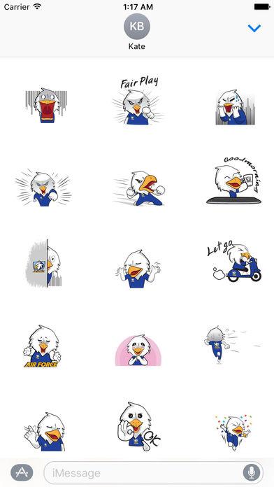 Air Force Bald Eagle Sticker screenshot 2