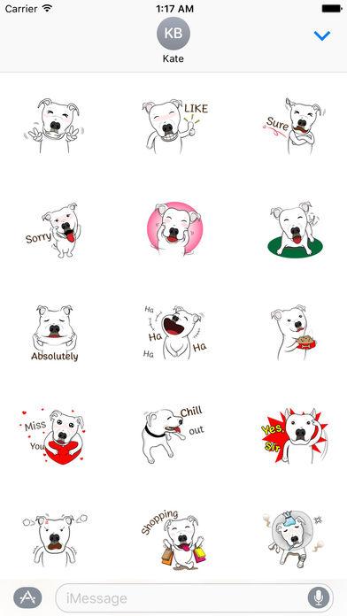 Pit Bull Dog Emoji Stickers screenshot 1
