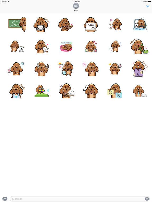 Animated Brown Dog Sticker screenshot 3