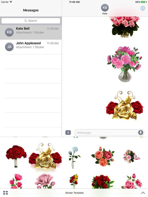 Flower Bouquets Bundle Stickers screenshot 7