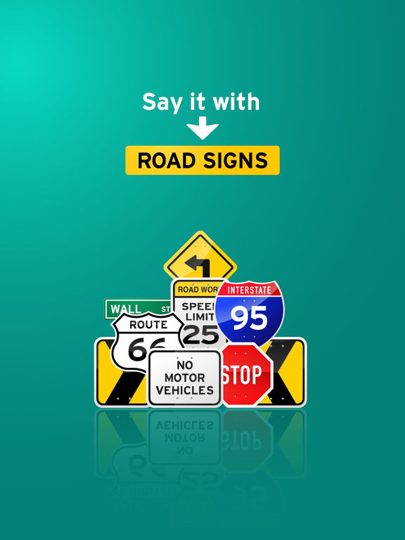 100+ Glossy Road Signs Sticker Pack screenshot 3