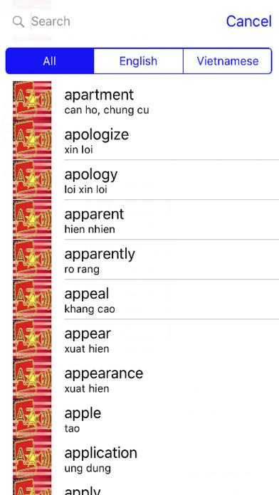 Vietnamese Dictionary GoldEdition screenshot 4
