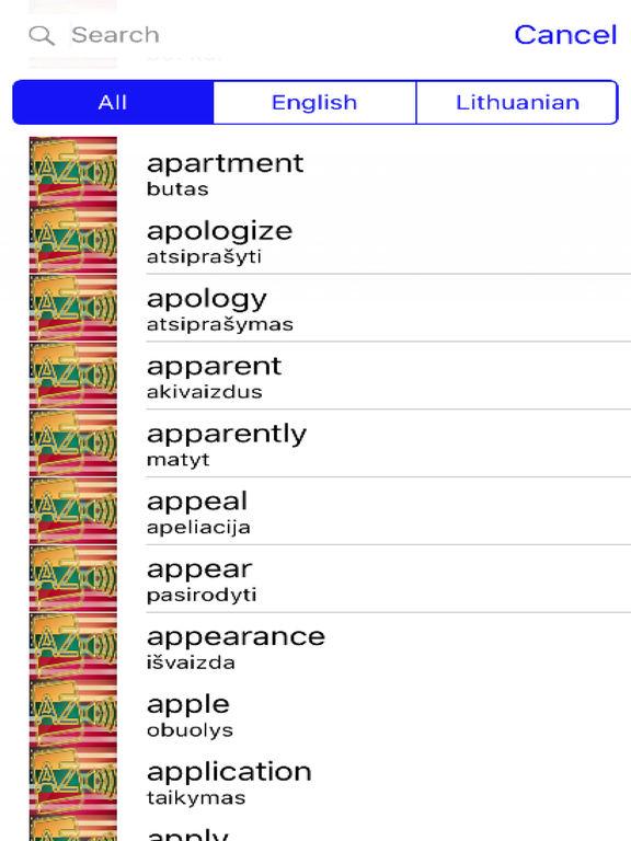 Lithuanian Dictionary GoldEdition screenshot 9