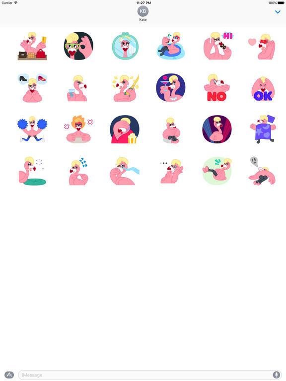 Animated Stylish Flamingo Sticker screenshot 3