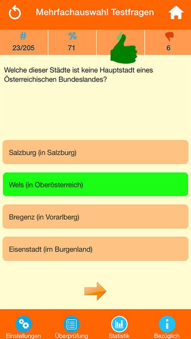 Österreich Wissenstests screenshot 2