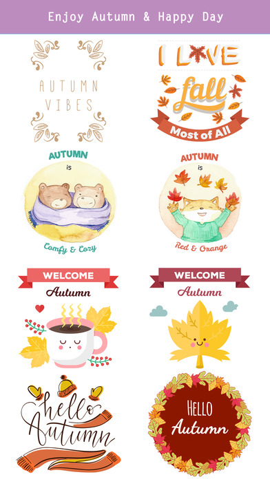 Autumn Love - Most Beautiful Autumn Stickers screenshot 5