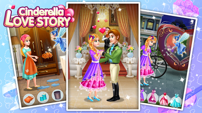 Cinderella Love Story - Fun Games screenshot 1