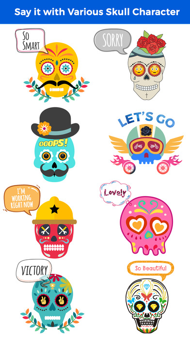 Animated Funny Skull Emoji screenshot 5
