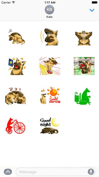 Blondi The Smart German Shepherd Dog Sticker screenshot 3