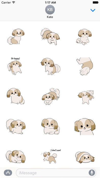 Shih Tzu Dog - Shihmoji Emoji Sticker screenshot 2