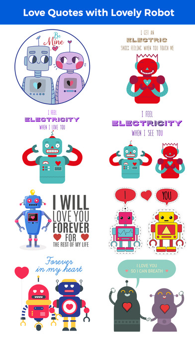 Love Quotes with Monster,Robot,Dinosaur Characters screenshot 2