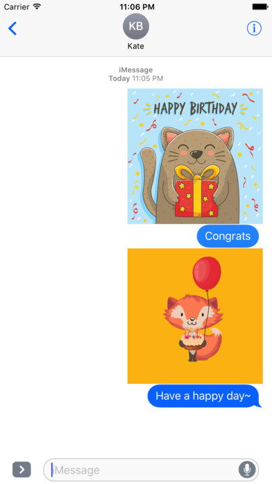 Birthday Card - Best Wishes with Cute Animals screenshot 3