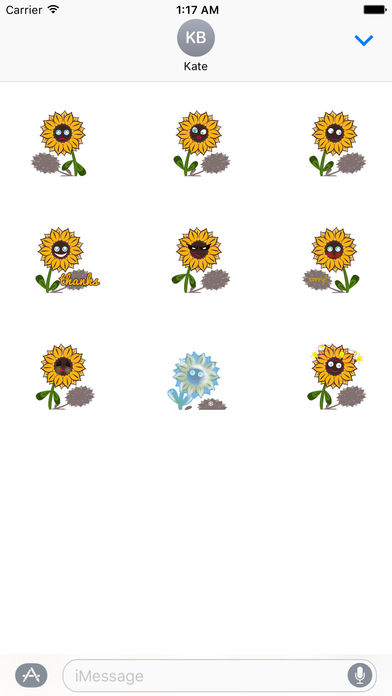 Cute Sunflower - Flowermoji Sticker screenshot 3