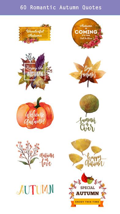 Autumn Love - Animal & Text & Elements Pack screenshot 4