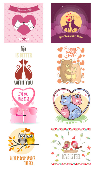 Love Quotes with Lovely & Romantic Animal Couple screenshot 5