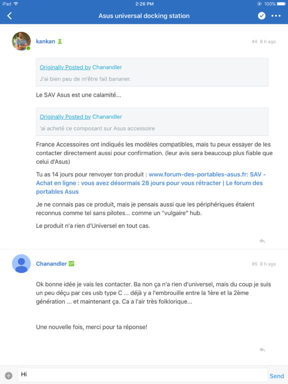 Le forum des portables Asus screenshot 5