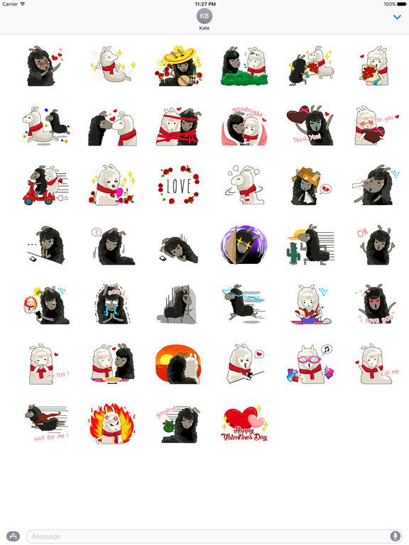 Valentine Day Of Llama Stickers screenshot 4