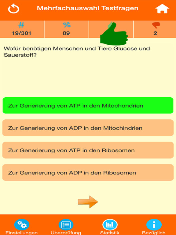 Das Biologie Quiz screenshot 7