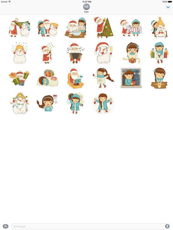 Happy Christmas Spirit Stickers screenshot 3