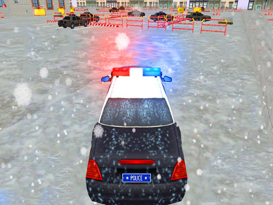 Snow City Police Parking : Real Driving Test Game screenshot 5