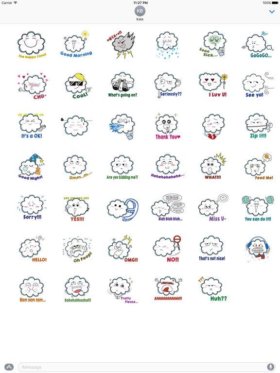 Funny Cloud Emoji Sticker screenshot 4