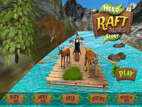Raft Survival Ocean Superhero Escape Story (iPad) reviews at