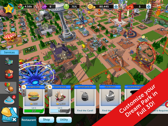 RollerCoaster Tycoon® Touch™ screenshot 8