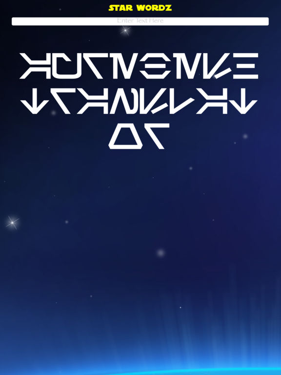 AUREBESH War Words in the Stars by Star Wordz screenshot 2
