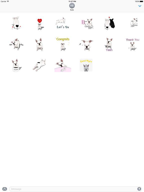 Animated Cute French Bulldog Stickers screenshot 3