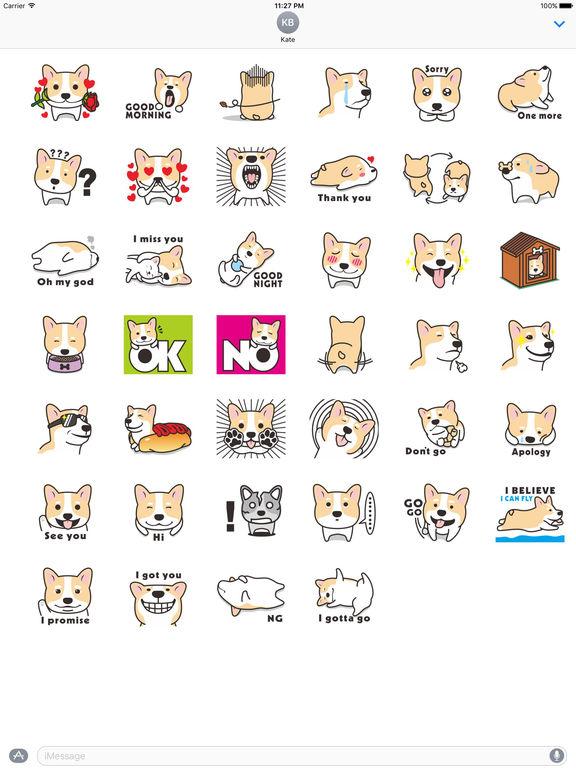 Many A Cute Dog Corgi Stickers screenshot 4