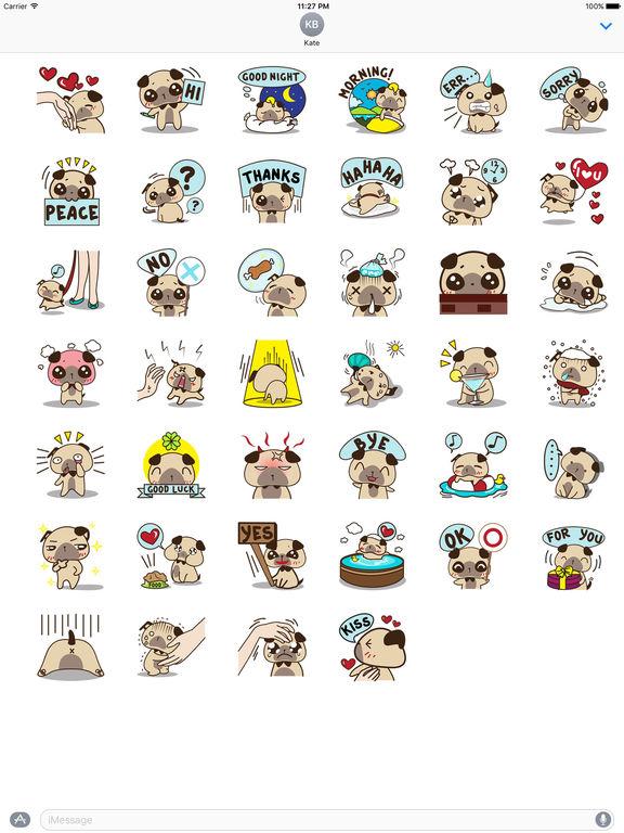 Lovely Pug Stickers screenshot 4