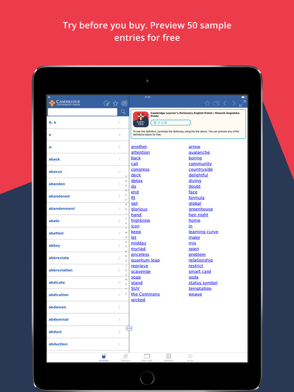 Cambridge Learner's Dictionary English-Polish screenshot 6