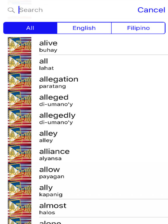 Filipino Dictionary GoldEdition screenshot 10