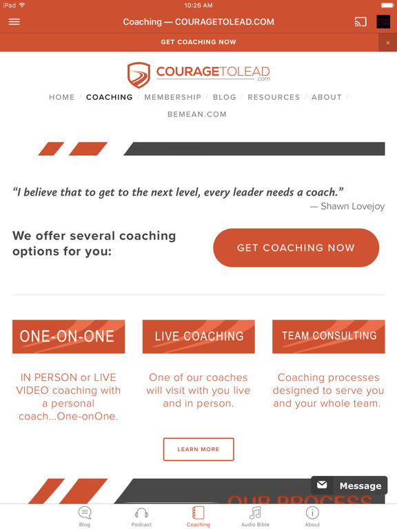 CourageToLead screenshot 6