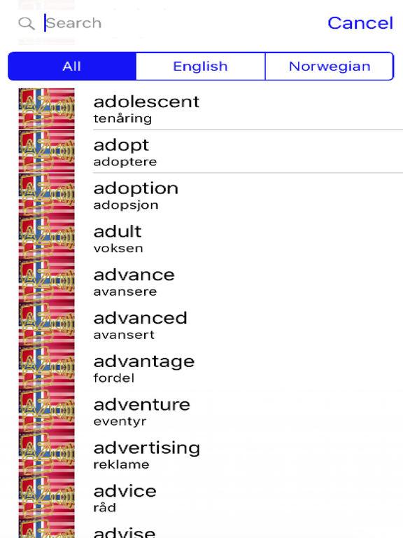 Norwegian Dictionary GoldEdition screenshot 8