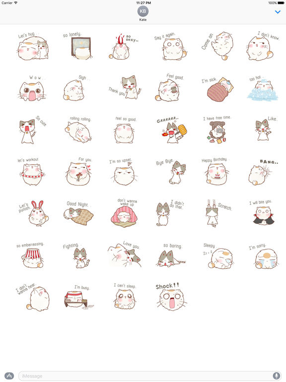 A Chubby Cat And A Thin Cat Stickers screenshot 4