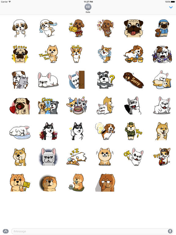 Many Cute Bred Dogs Stickers screenshot 4