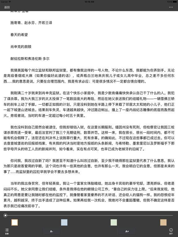 肖申克的救赎:值得一看的经典影视小说 screenshot 5