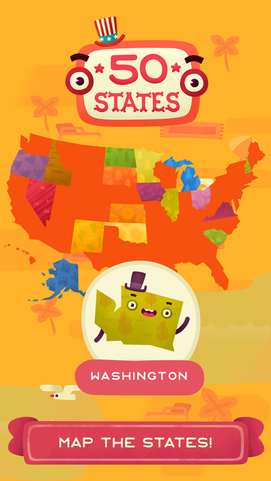 50 States - Top Education & Learning Stack Games screenshot 1