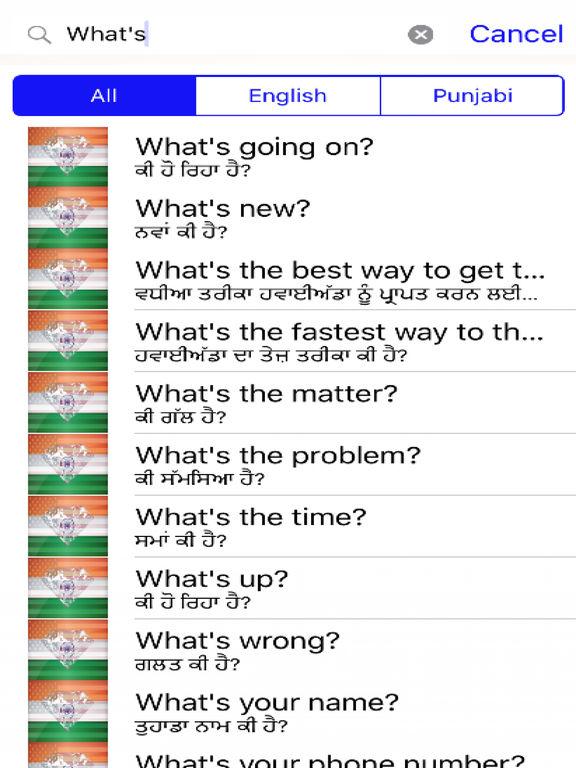 Punjabi Phrases Diamond 4K Edition screenshot 5