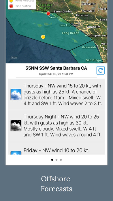 NOAA 5-day Marine Forecast screenshot 4