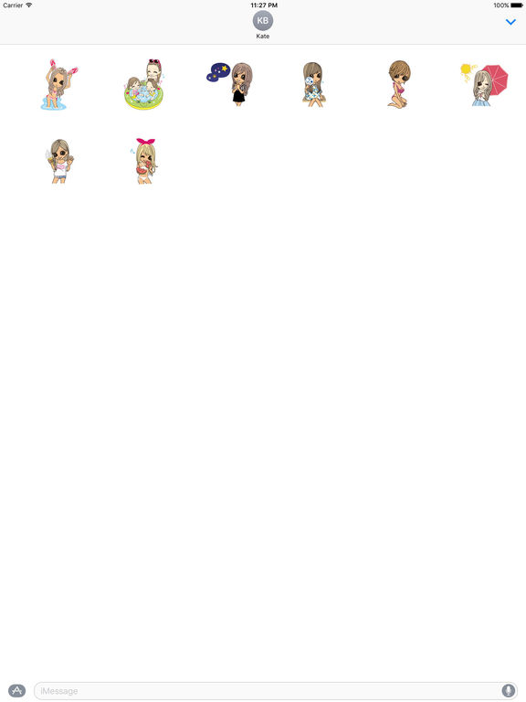 Beautiful Girls in Summer Sticker screenshot 7