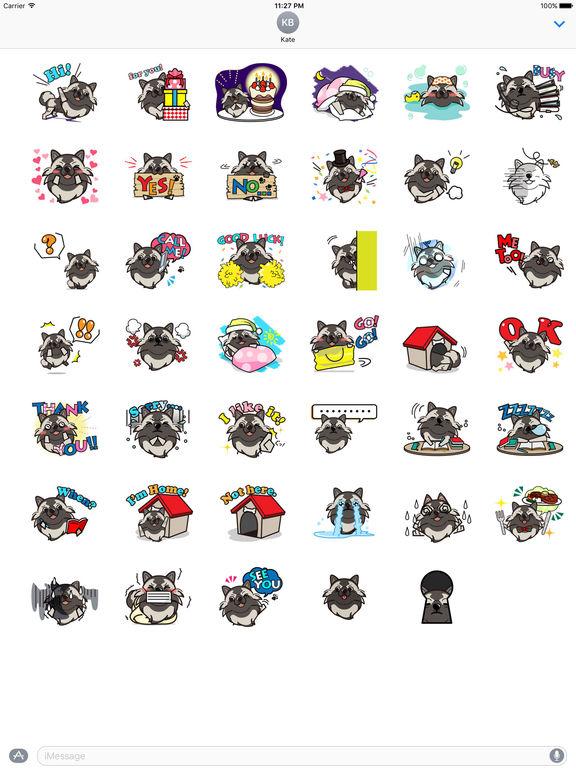 Keeshond Dog - Kees Emoji Stickers screenshot 4