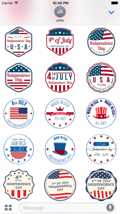 4th of July - 120+ Badge Independence Day Stickers screenshot 3